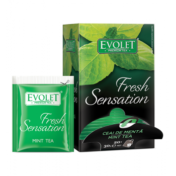 Ceai mix de plante, plicuri Menta Evolet Fresh Sensation