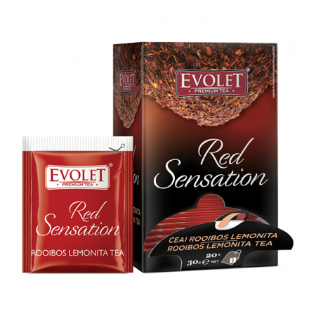 Ceai mix de plante, plicuri Rooibos Lemonita Evolet Red Sensation